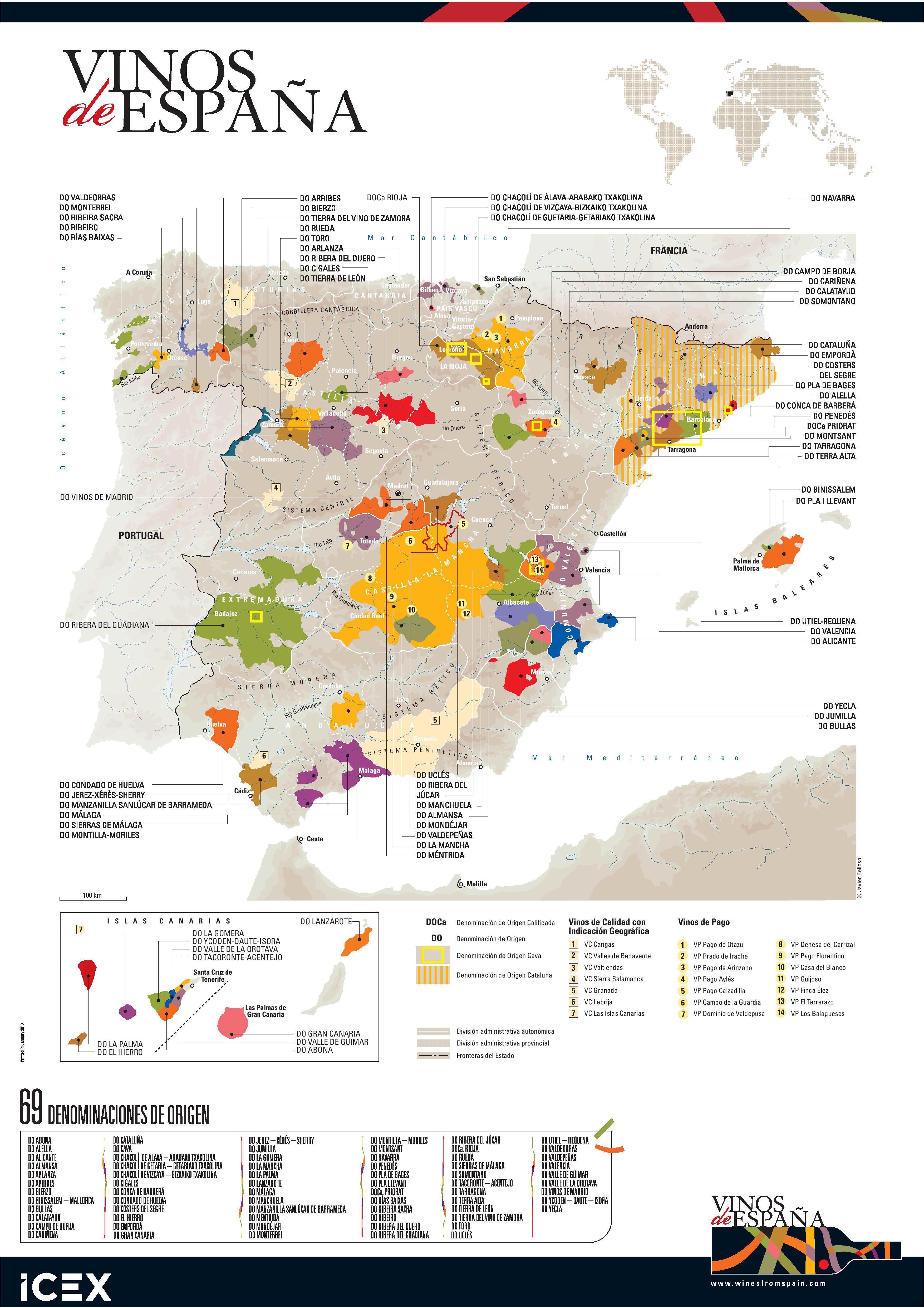 Denominaciones de Origen vinos de España